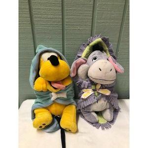 "3 Disney Babies 10""Plush w Blanket"